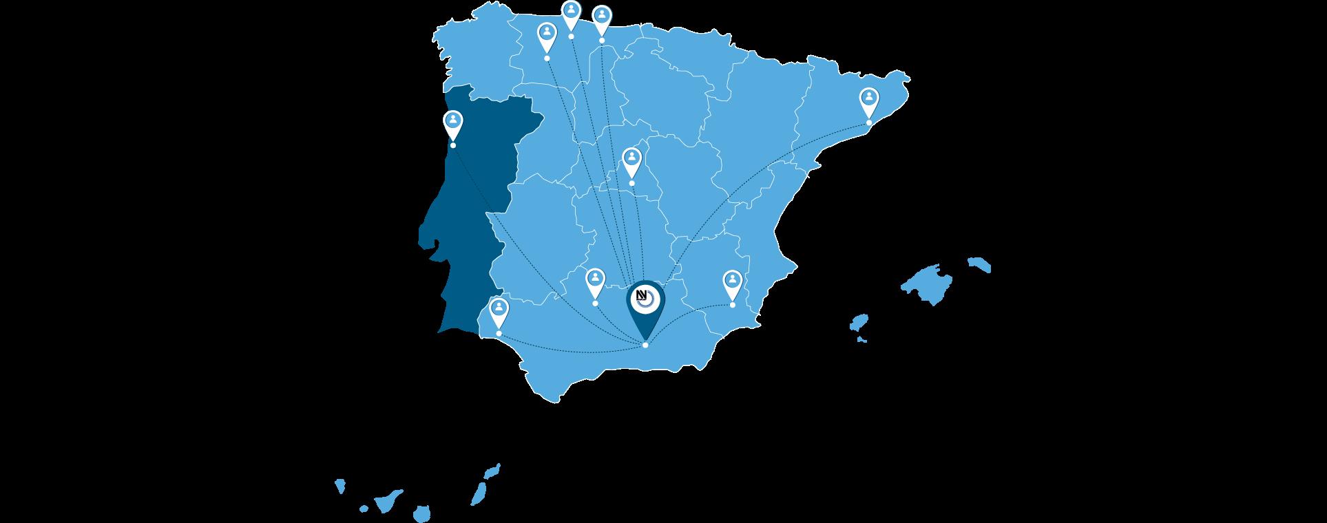 mapa de clientes Nivaplast Reciclados de Pet